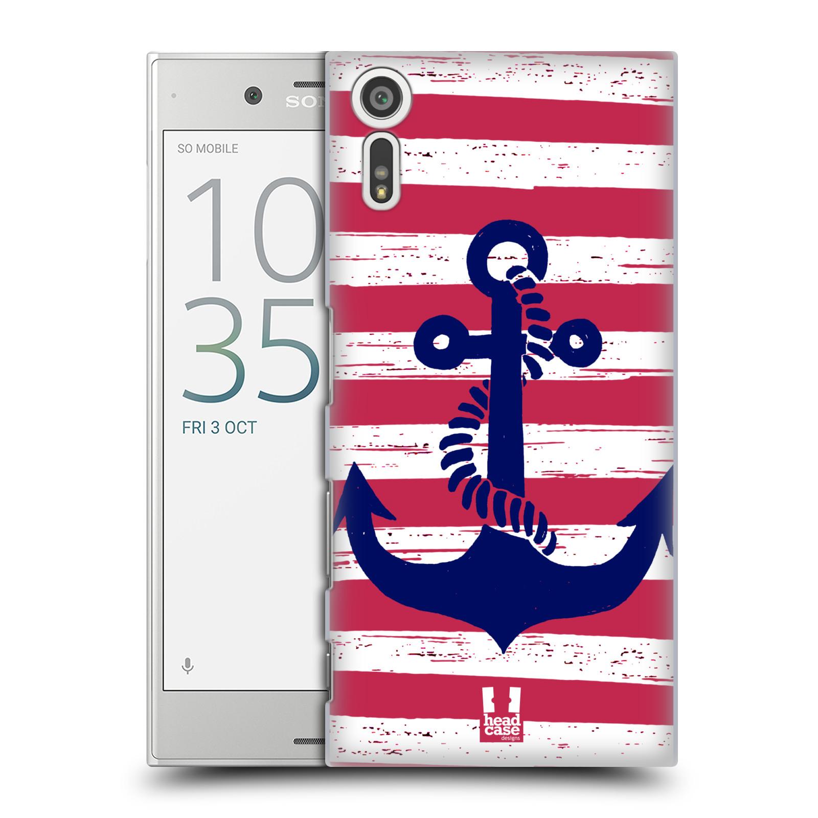 Plastové pouzdro na mobil Sony Xperia XZ - Head Case KOTVA S PRUHY