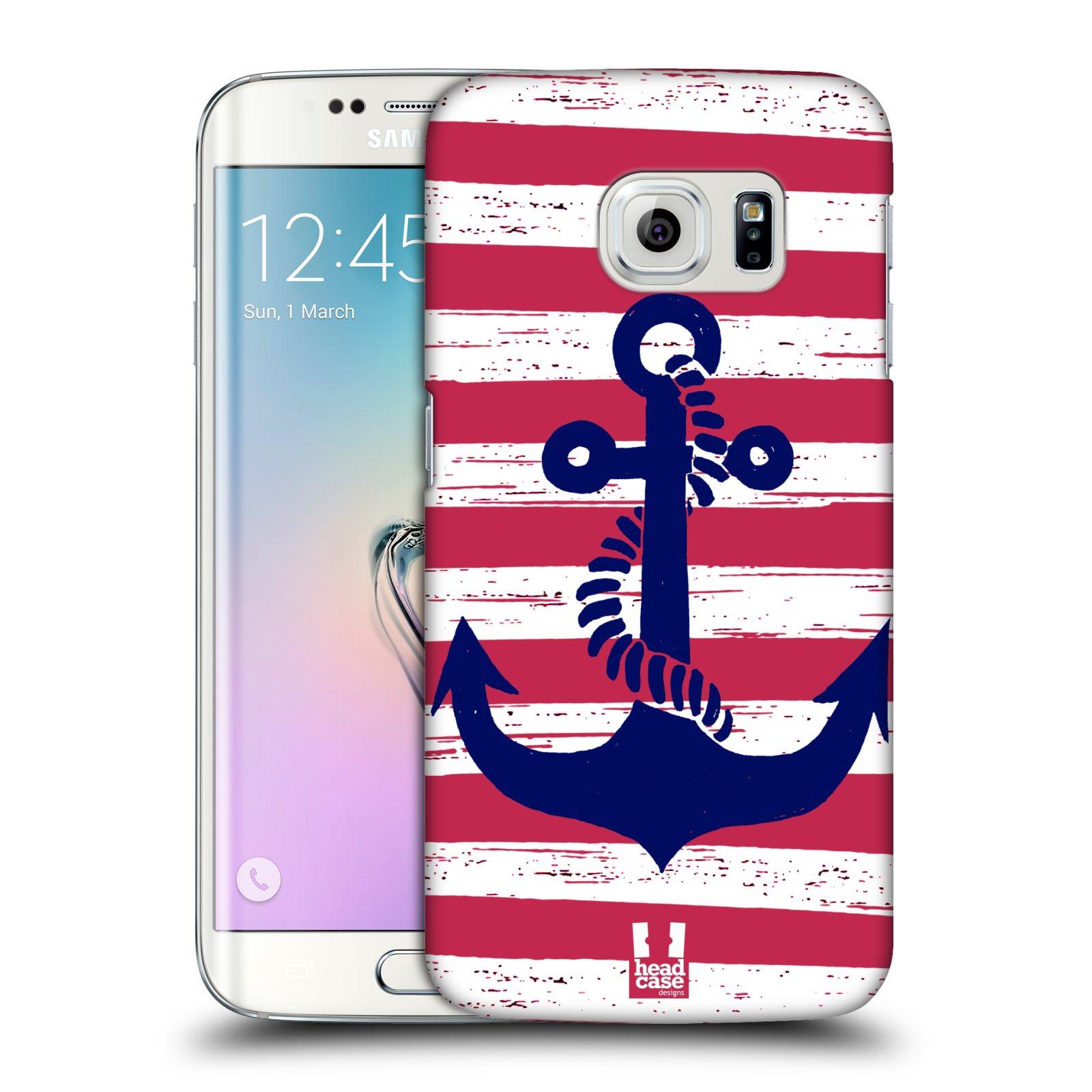 Plastové pouzdro na mobil Samsung Galaxy S6 Edge HEAD CASE KOTVA S PRUHY