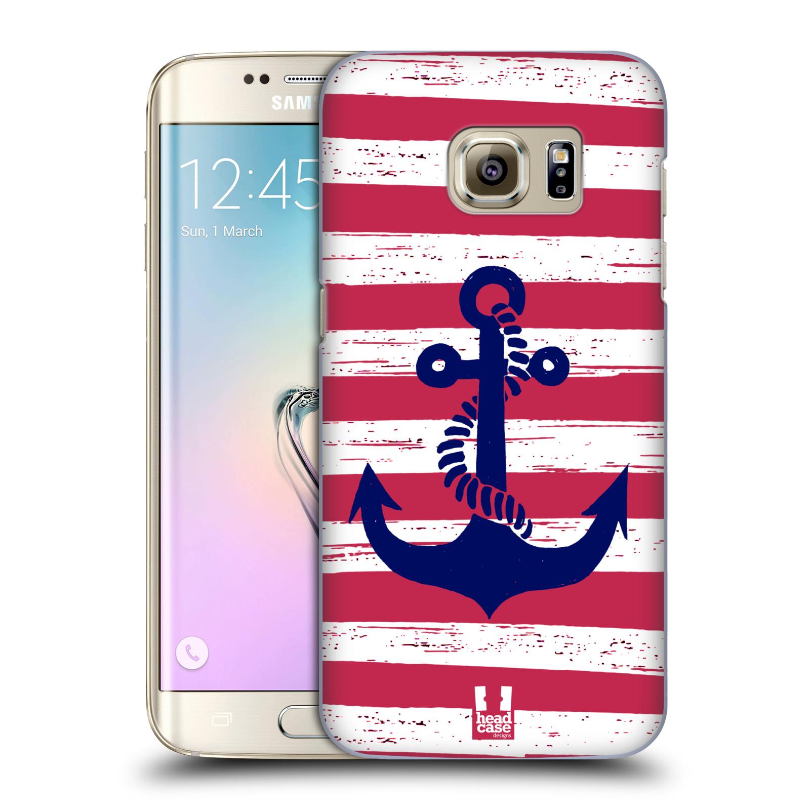 Plastové pouzdro na mobil Samsung Galaxy S7 Edge HEAD CASE KOTVA S PRUHY (Kryt či obal na mobilní telefon Samsung Galaxy S7 Edge SM-G935F)