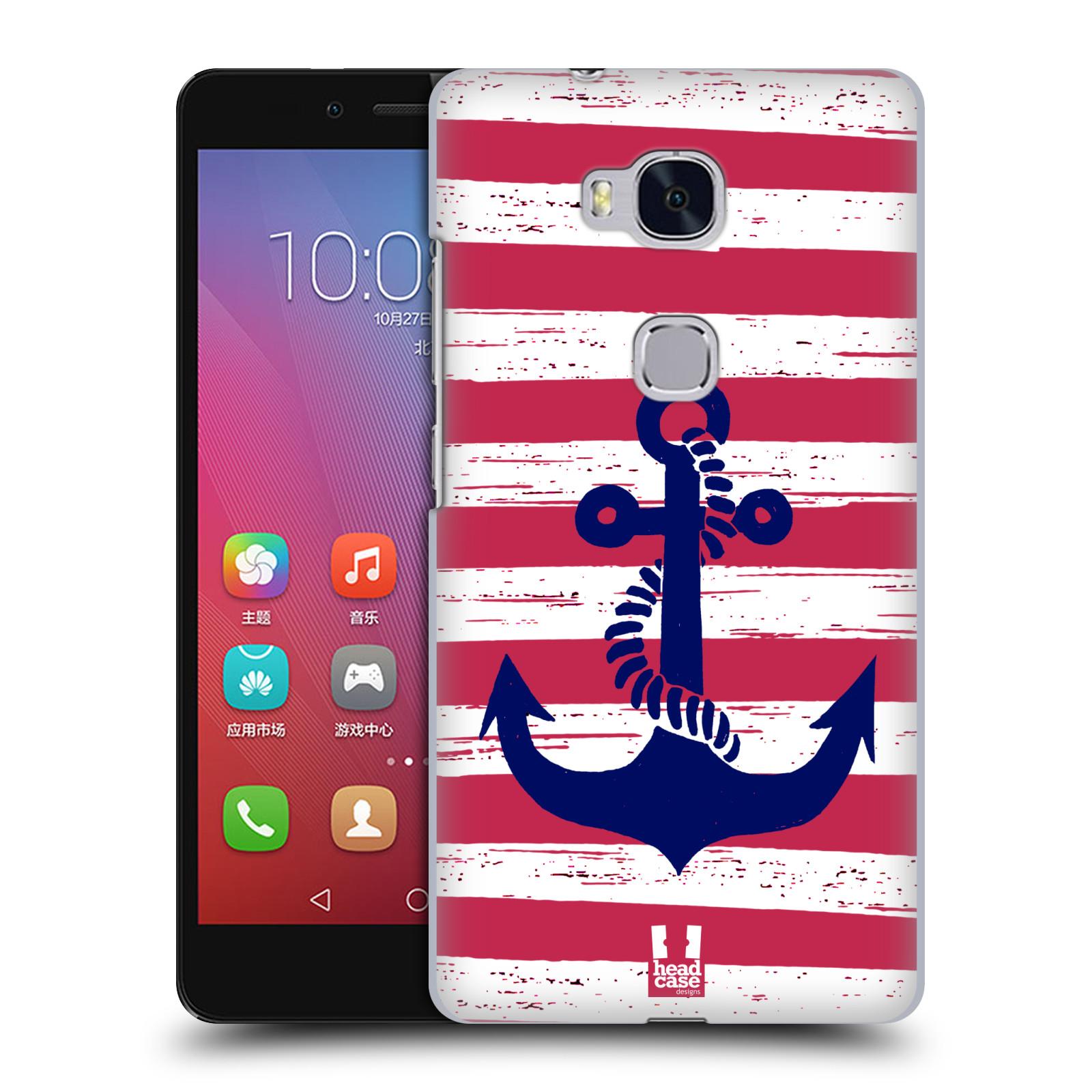 Plastové pouzdro na mobil Honor 5X HEAD CASE KOTVA S PRUHY