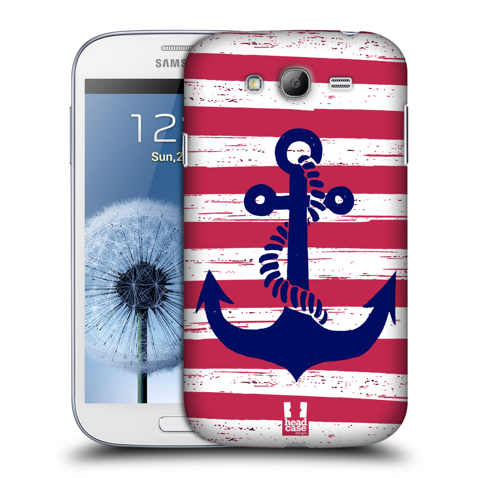 Plastové pouzdro na mobil Samsung Galaxy Grand Neo Plus HEAD CASE KOTVA S PRUHY (Kryt či obal na mobilní telefon Samsung Galaxy Grand Neo Plus GT-i9060i)