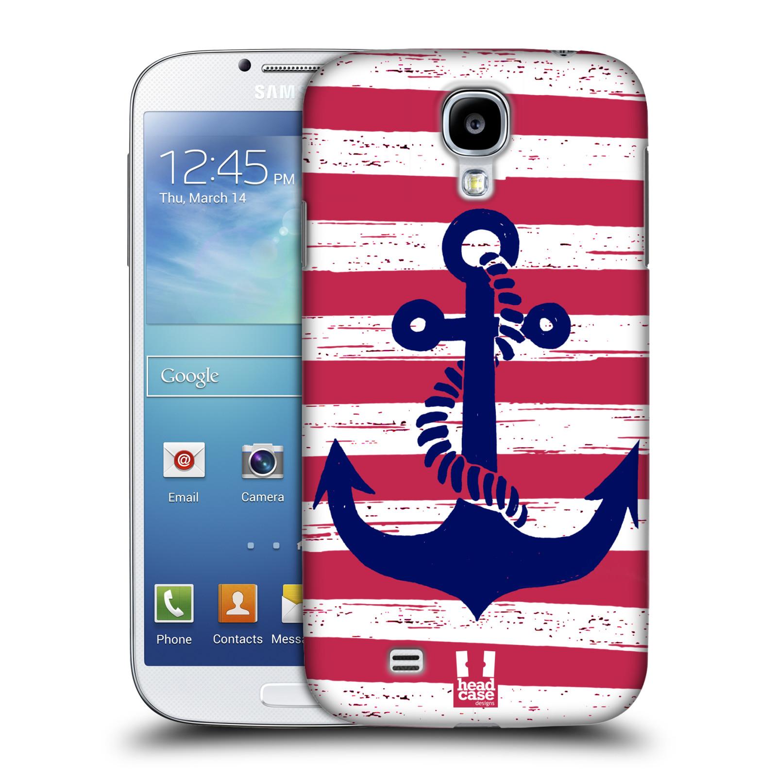 Plastové pouzdro na mobil Samsung Galaxy S4 HEAD CASE KOTVA S PRUHY (Kryt či obal na mobilní telefon Samsung Galaxy S4 GT-i9505 / i9500)