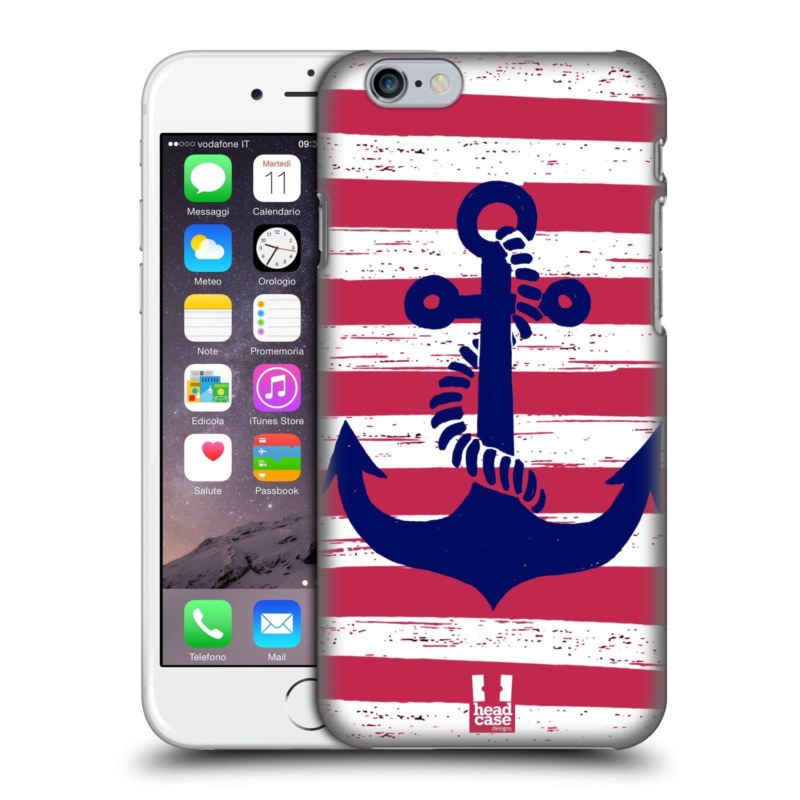 Plastové pouzdro na mobil Apple iPhone 6 a 6S HEAD CASE KOTVA S PRUHY