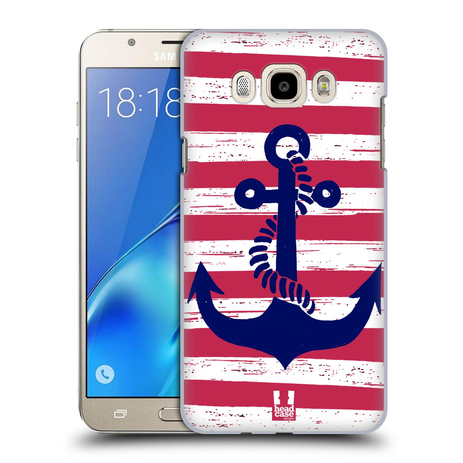 Plastové pouzdro na mobil Samsung Galaxy J7 (2016) HEAD CASE KOTVA S PRUHY