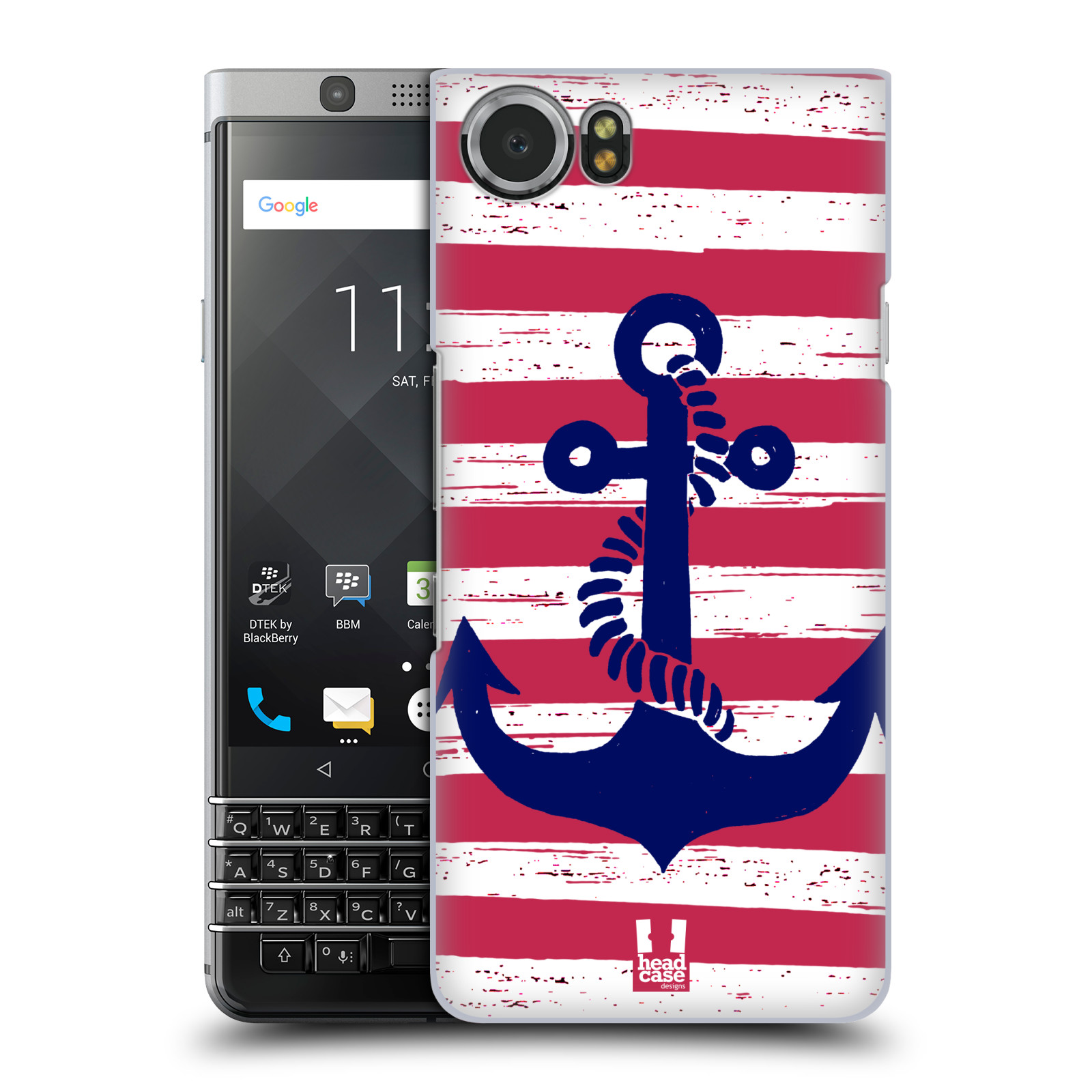 Plastové pouzdro na mobil BlackBerry KEYone - Head Case - KOTVA S PRUHY