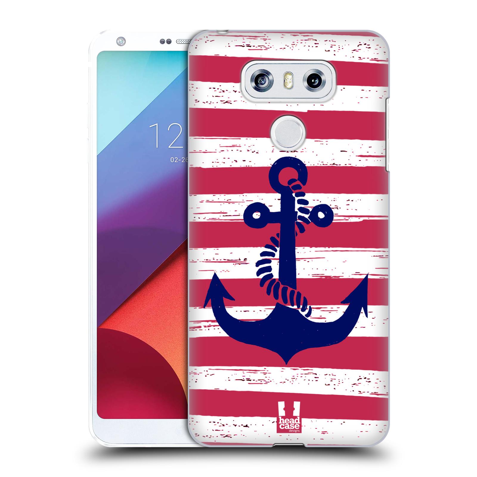 Plastové pouzdro na mobil LG G6 - Head Case KOTVA S PRUHY