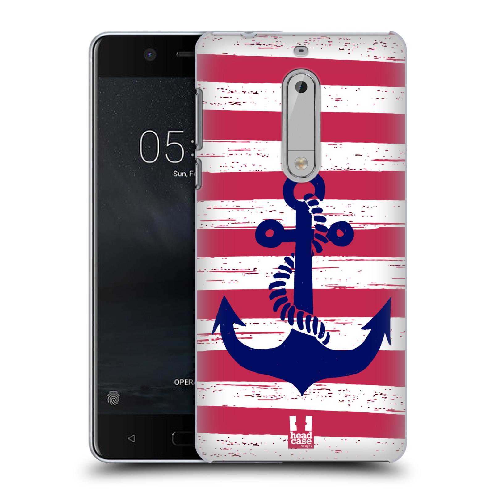 Plastové pouzdro na mobil Nokia 5 Head Case - KOTVA S PRUHY
