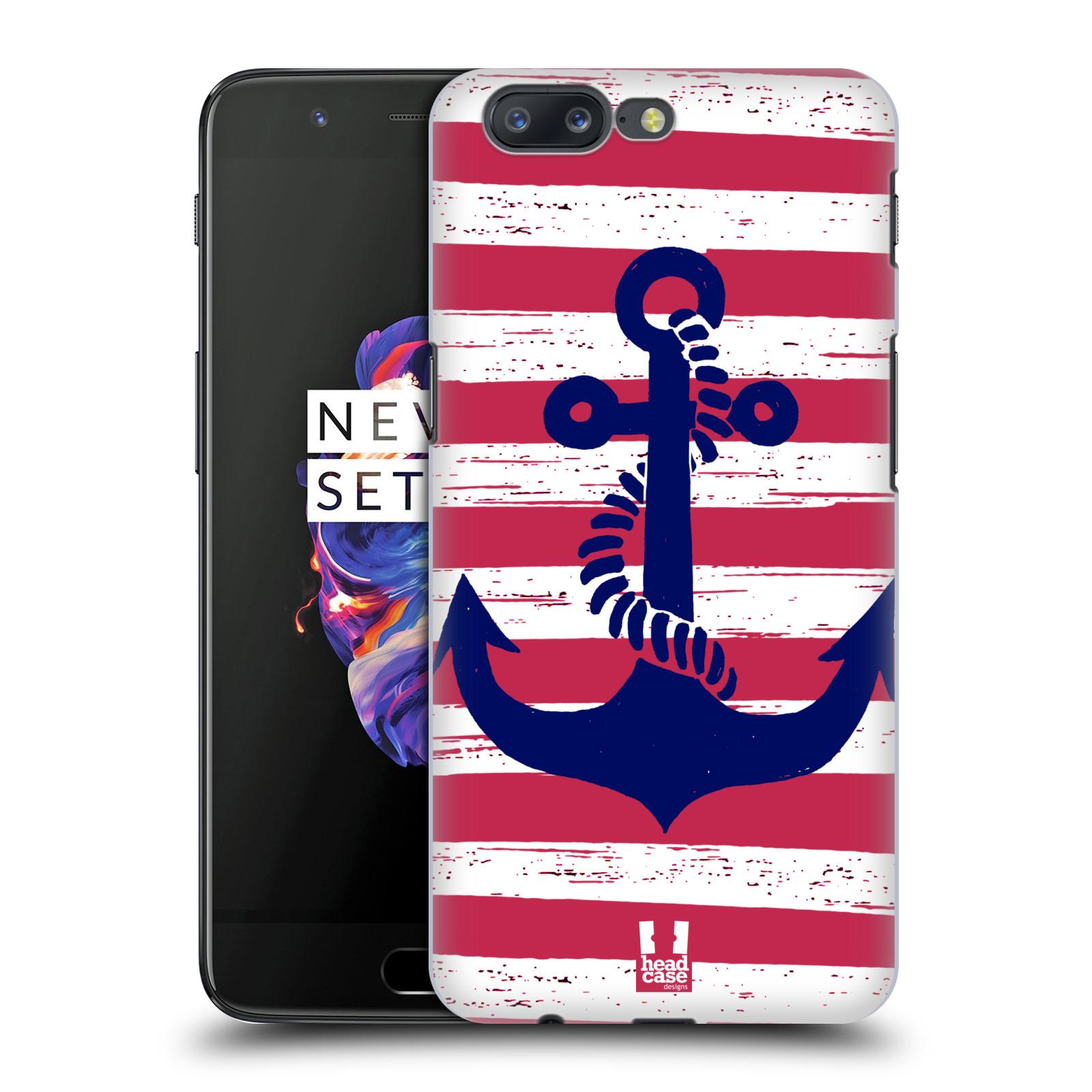 Plastové pouzdro na mobil OnePlus 5 - Head Case - KOTVA S PRUHY