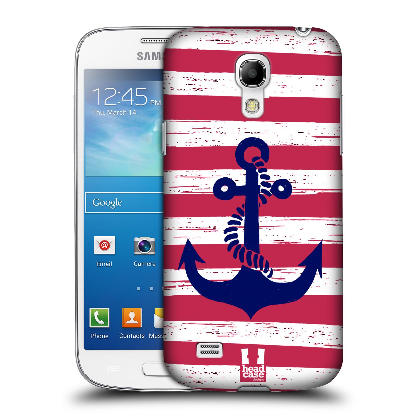 Plastové pouzdro na mobil Samsung Galaxy S4 Mini VE HEAD CASE KOTVA S PRUHY