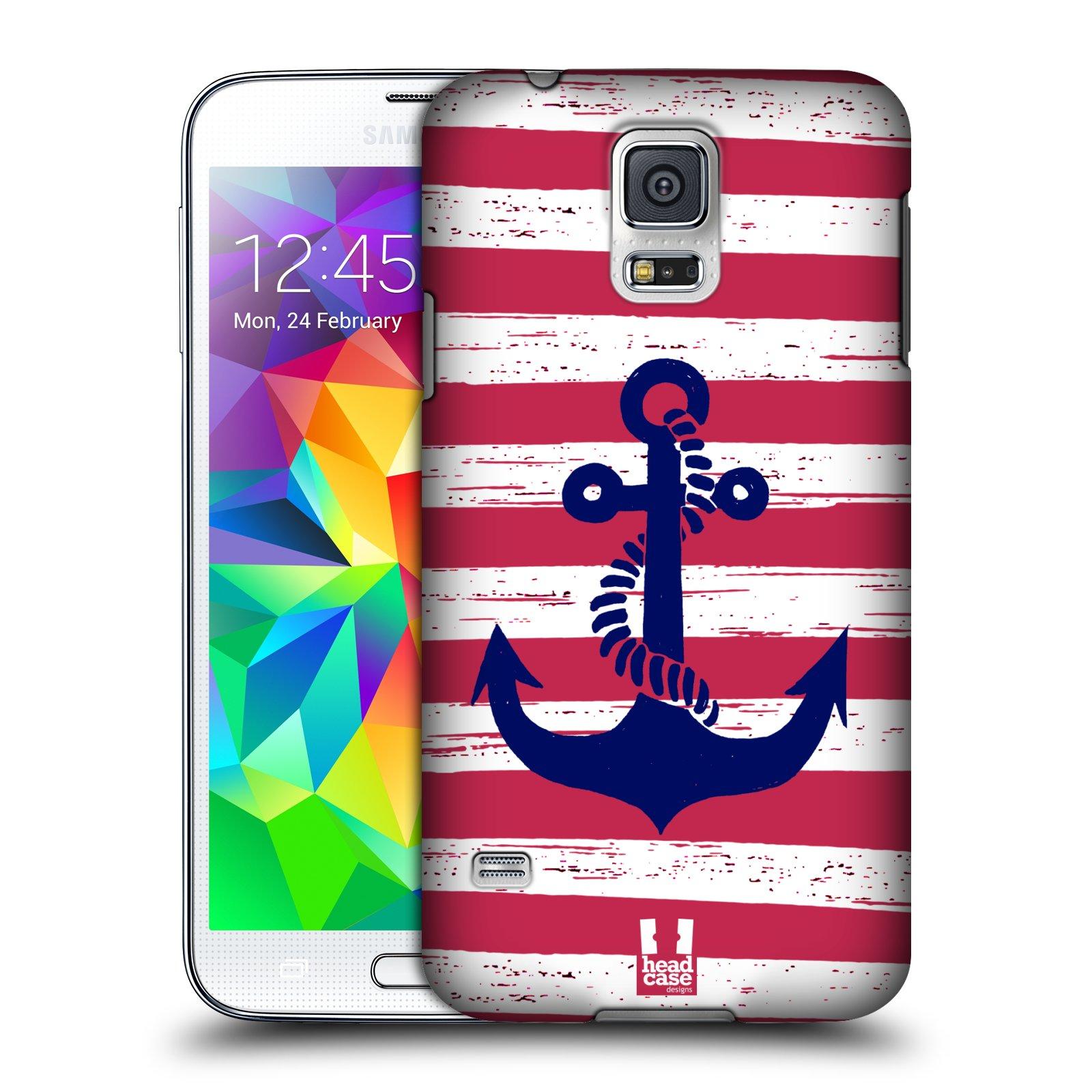 Plastové pouzdro na mobil Samsung Galaxy S5 HEAD CASE KOTVA S PRUHY
