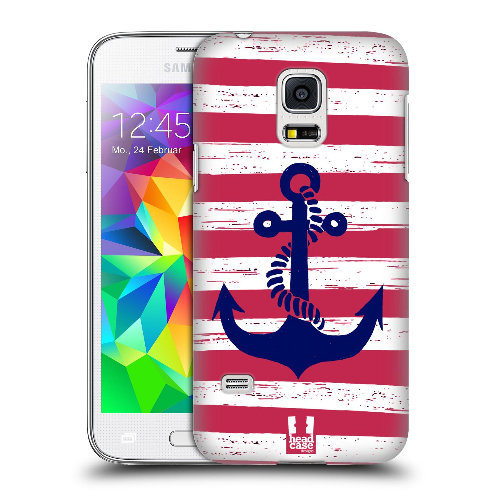 Plastové pouzdro na mobil Samsung Galaxy S5 Mini HEAD CASE KOTVA S PRUHY