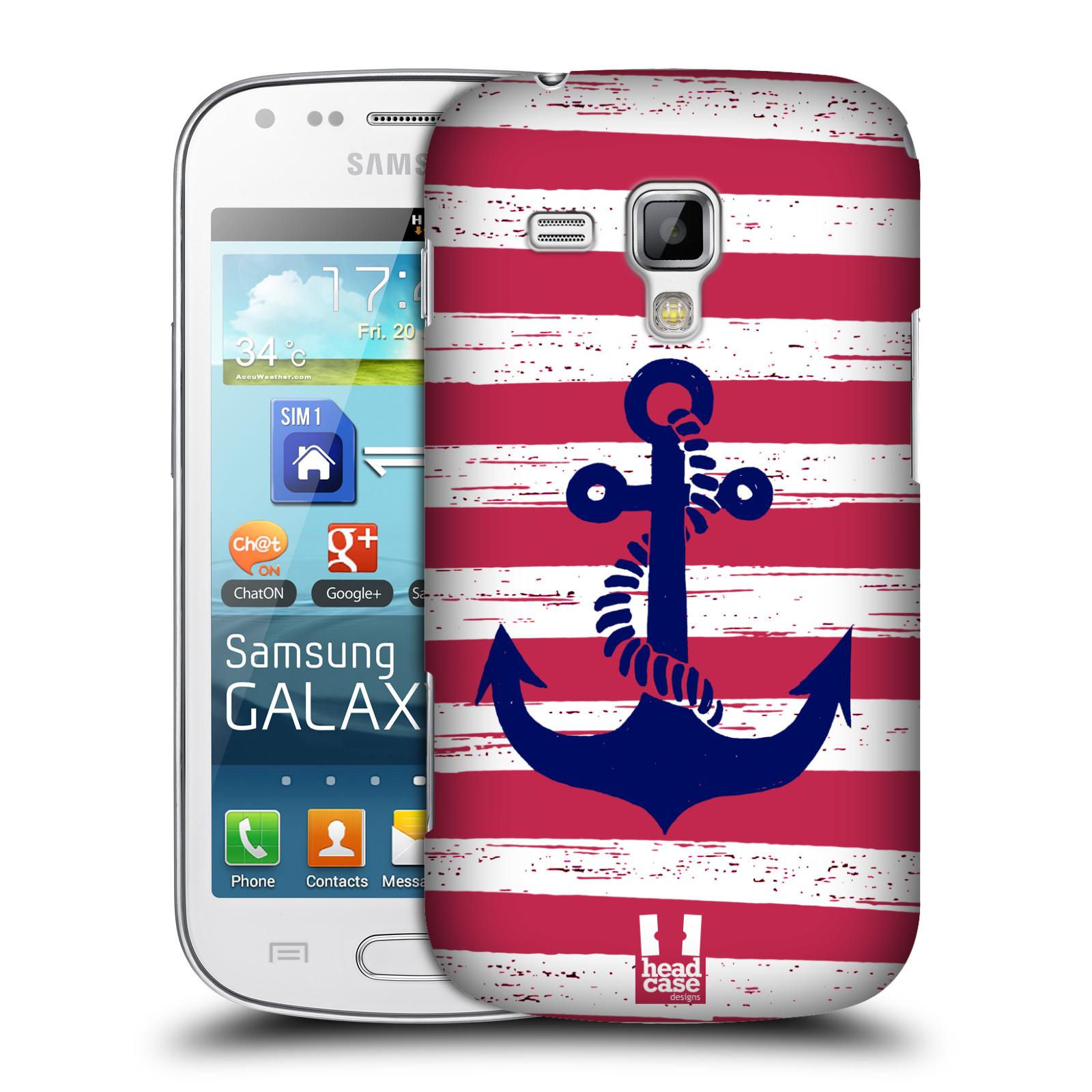 Plastové pouzdro na mobil Samsung Galaxy S Duos HEAD CASE KOTVA S PRUHY (Kryt či obal na mobilní telefon Samsung Galaxy S Duos GT-S7562)