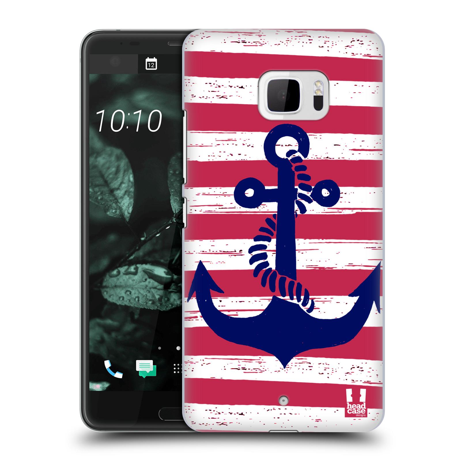 Plastové pouzdro na mobil HTC U Ultra Head Case - KOTVA S PRUHY (Plastový kryt či obal na mobilní telefon HTC U Ultra (99HALT015-00))