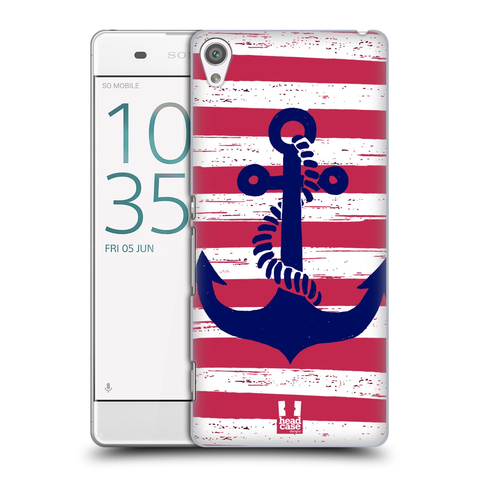 Plastové pouzdro na mobil Sony Xperia XA HEAD CASE KOTVA S PRUHY