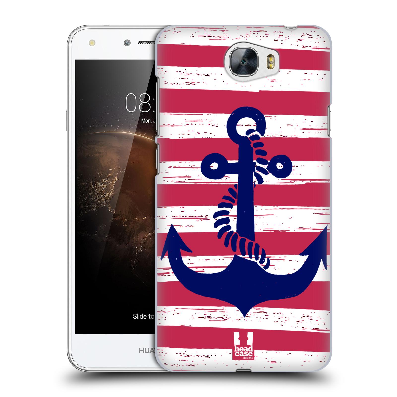 Plastové pouzdro na mobil Huawei Y5 II HEAD CASE KOTVA S PRUHY