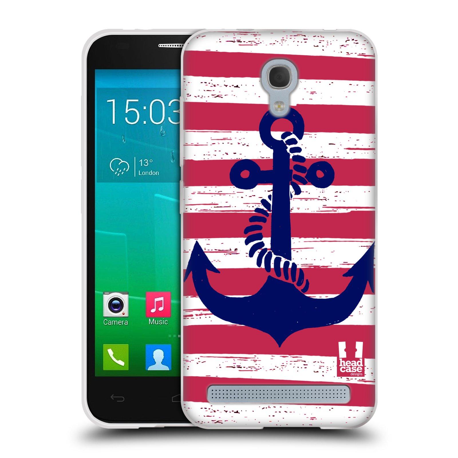 Silikonové pouzdro na mobil Alcatel One Touch Idol 2 Mini S 6036Y HEAD CASE KOTVA S PRUHY