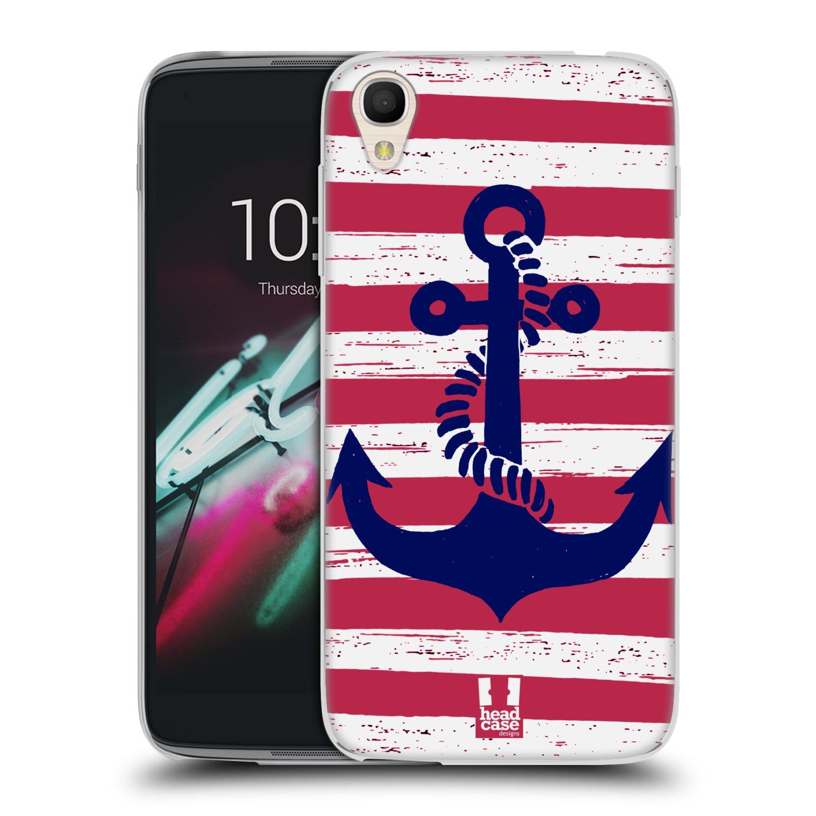 "Silikonové pouzdro na mobil Alcatel One Touch 6039Y Idol 3 HEAD CASE KOTVA S PRUHY (Silikonový kryt či obal na mobilní telefon Alcatel One Touch Idol 3 OT-6039Y s 4,7"" displejem)"