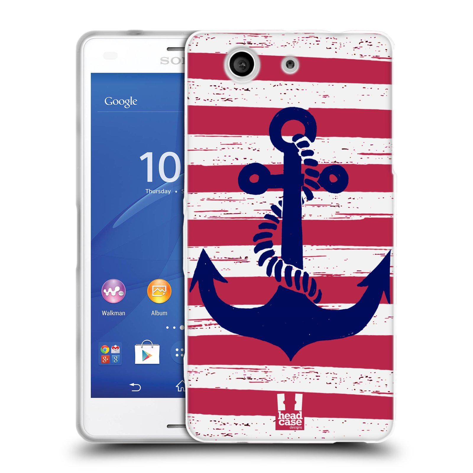 Silikonové pouzdro na mobil Sony Xperia Z3 Compact D5803 HEAD CASE KOTVA S PRUHY