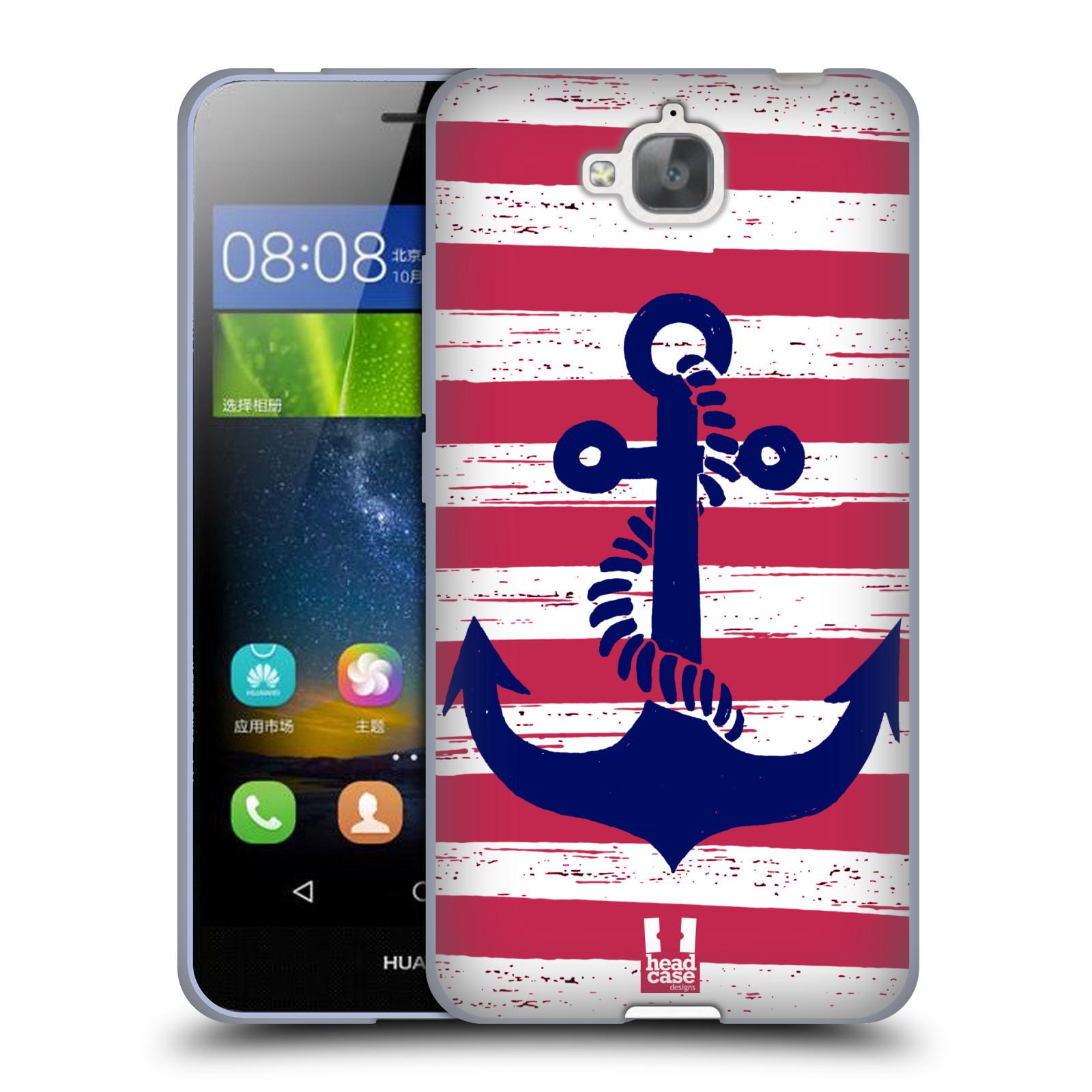 Silikonové pouzdro na mobil Huawei Y6 Pro Dual Sim HEAD CASE KOTVA S PRUHY