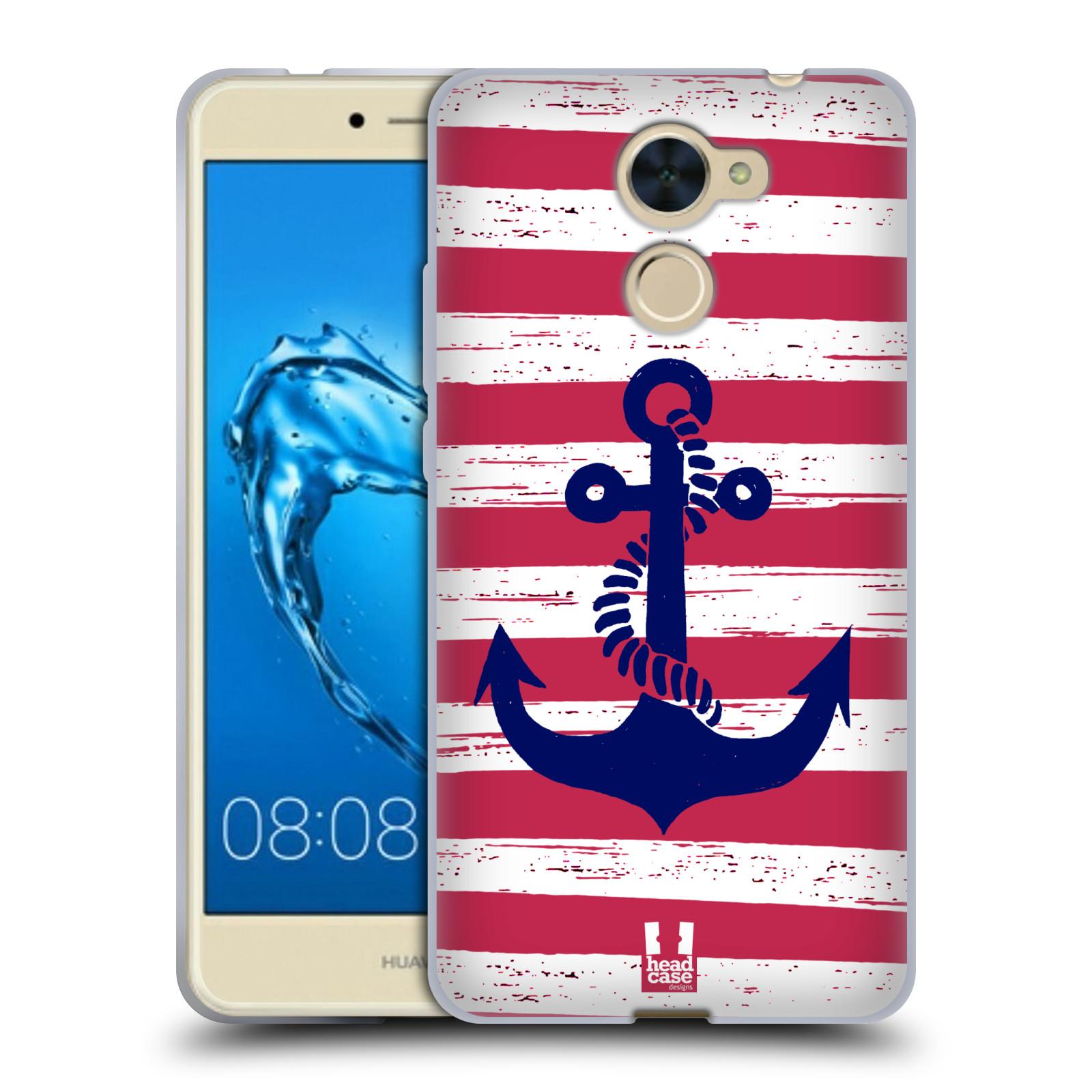 Silikonové pouzdro na mobil Huawei Y7 - Head Case - KOTVA S PRUHY
