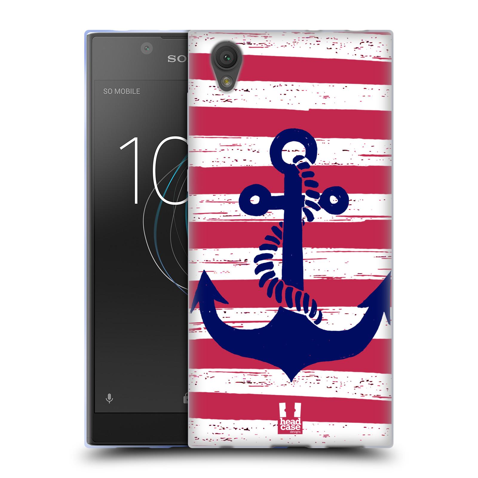Silikonové pouzdro na mobil Sony Xperia L1 - Head Case - KOTVA S PRUHY