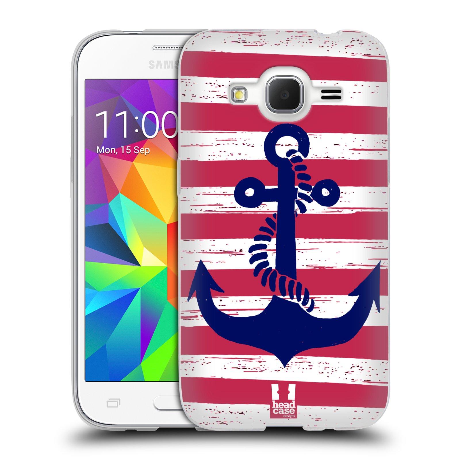 Silikonové pouzdro na mobil Samsung Galaxy Core Prime LTE HEAD CASE KOTVA S PRUHY