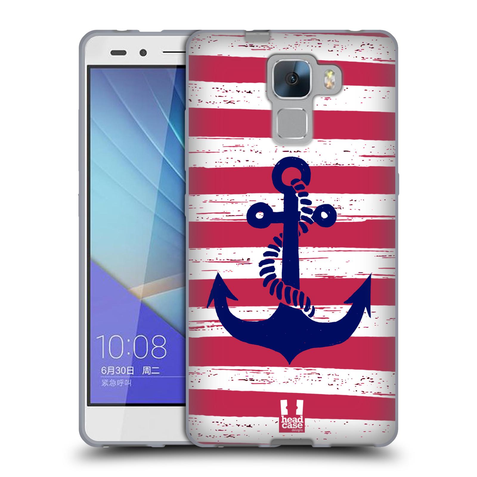 Silikonové pouzdro na mobil Honor 7 HEAD CASE KOTVA S PRUHY