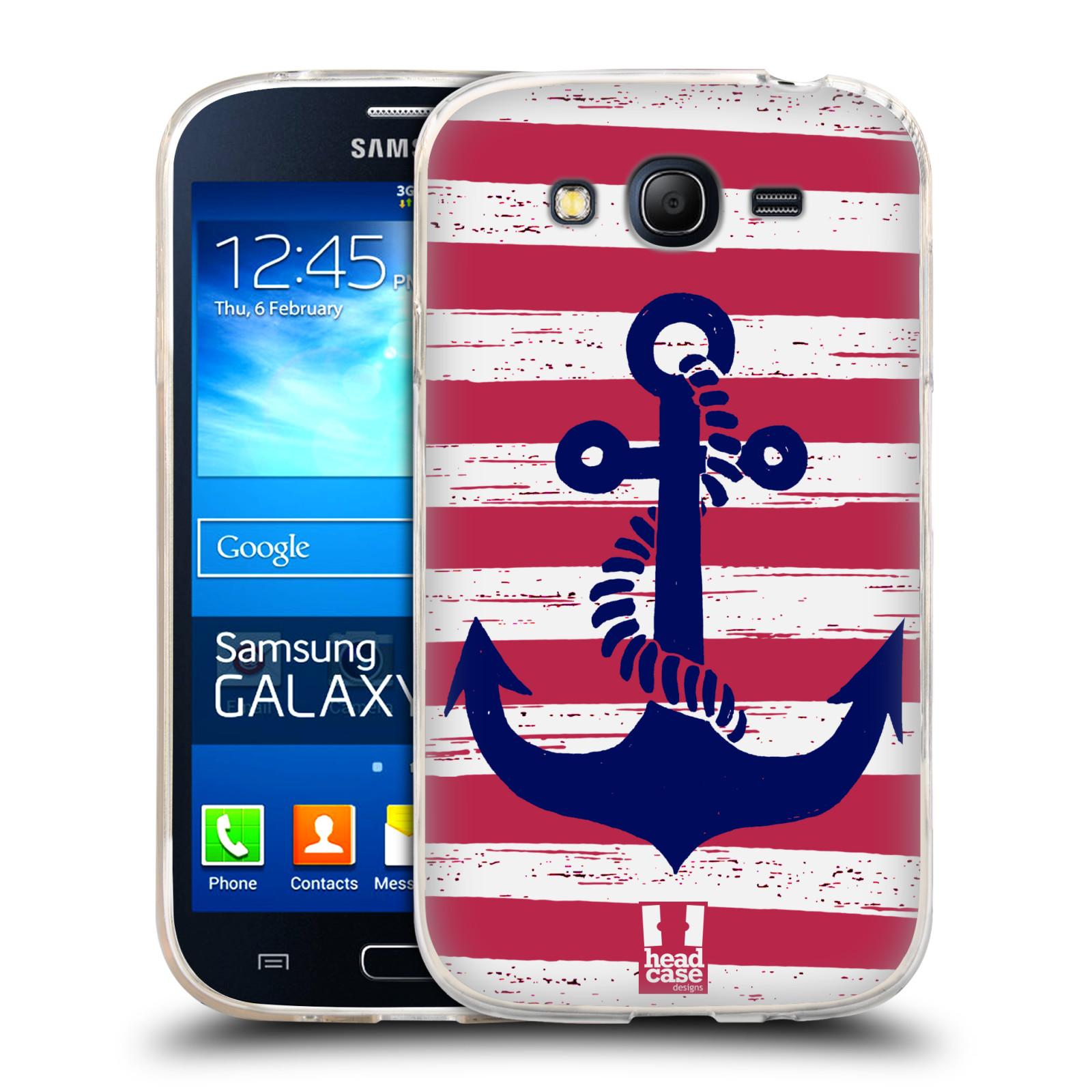 Silikonové pouzdro na mobil Samsung Galaxy Grand Neo HEAD CASE KOTVA S PRUHY