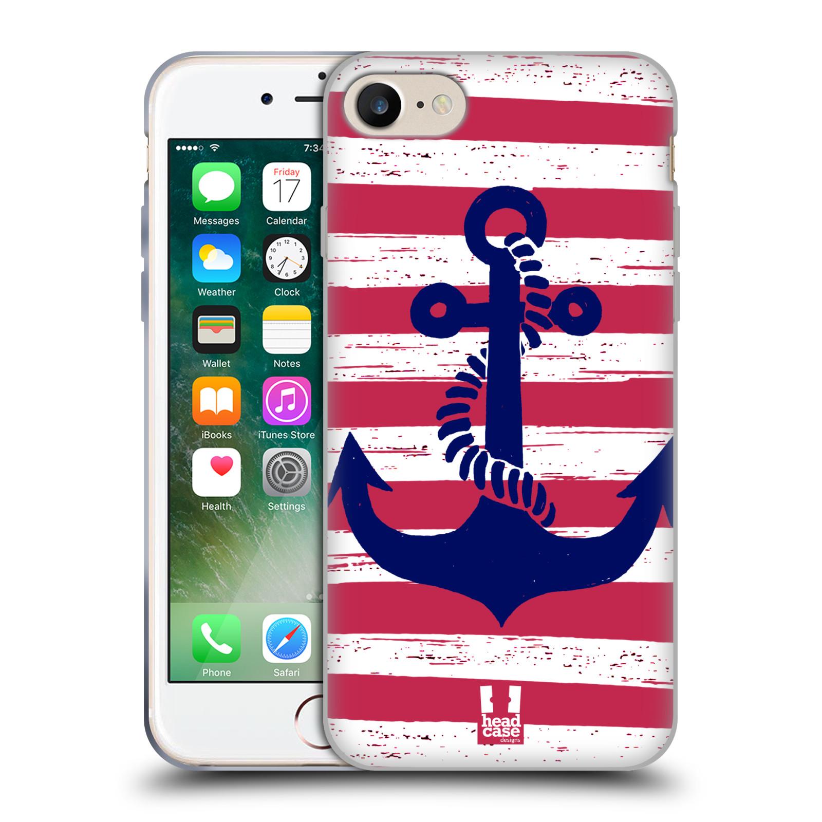 Silikonové pouzdro na mobil Apple iPhone 8 - Head Case - KOTVA S PRUHY