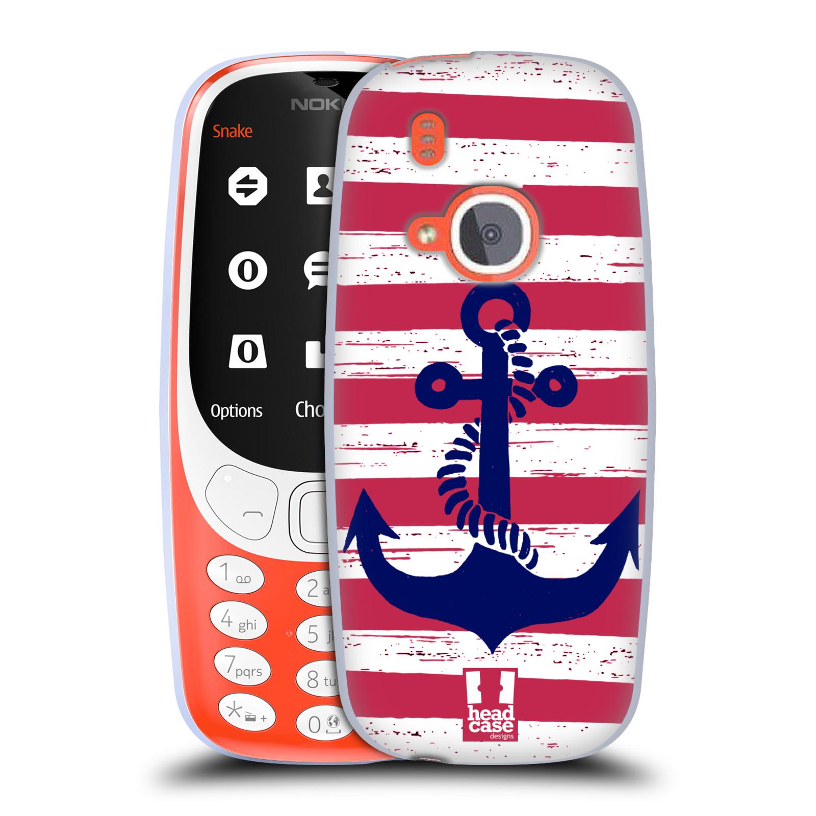 Silikonové pouzdro na mobil Nokia 3310 - Head Case - KOTVA S PRUHY