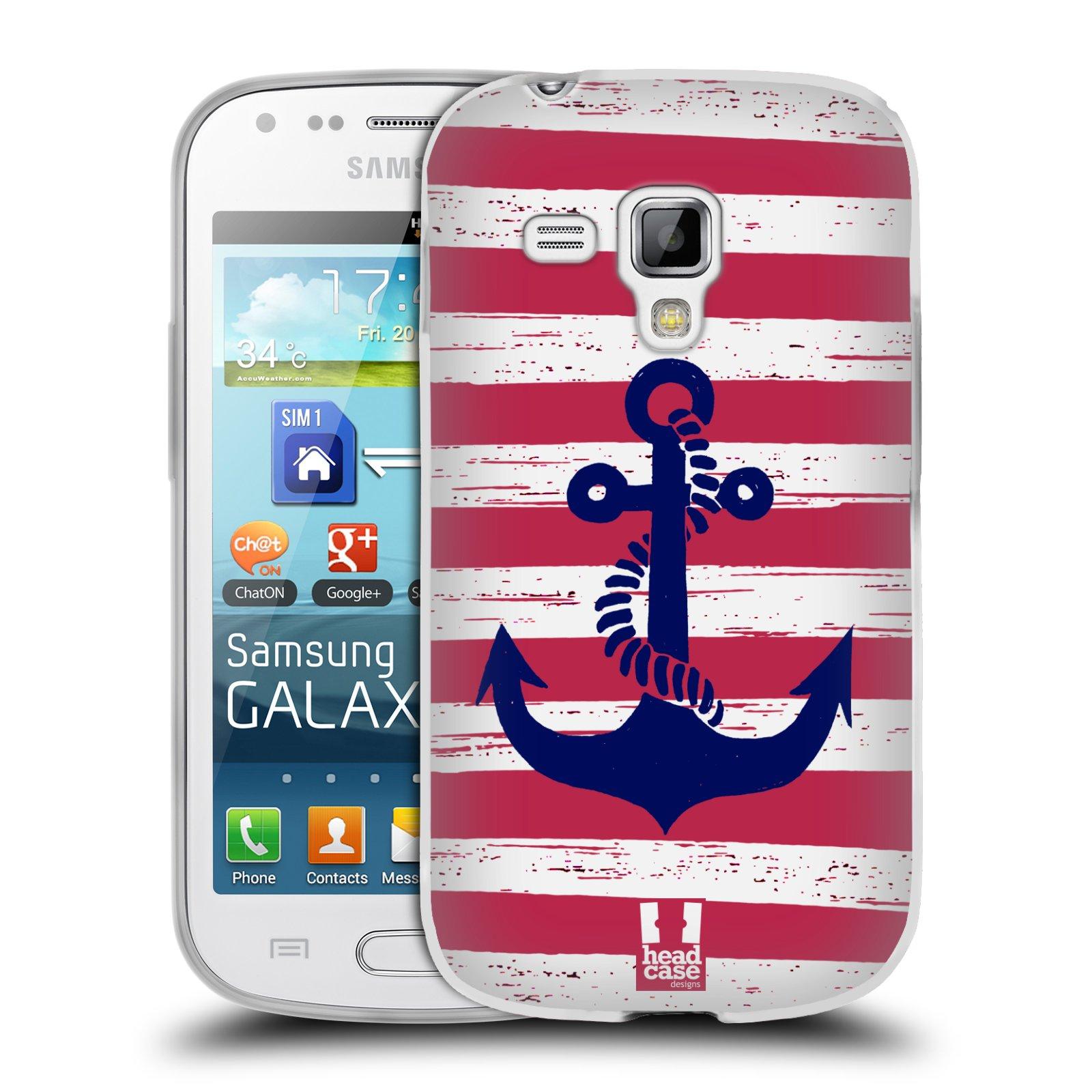 Silikonové pouzdro na mobil Samsung Galaxy Trend Plus HEAD CASE KOTVA S PRUHY (Silikonový kryt či obal na mobilní telefon Samsung Galaxy Trend Plus GT-S7580)
