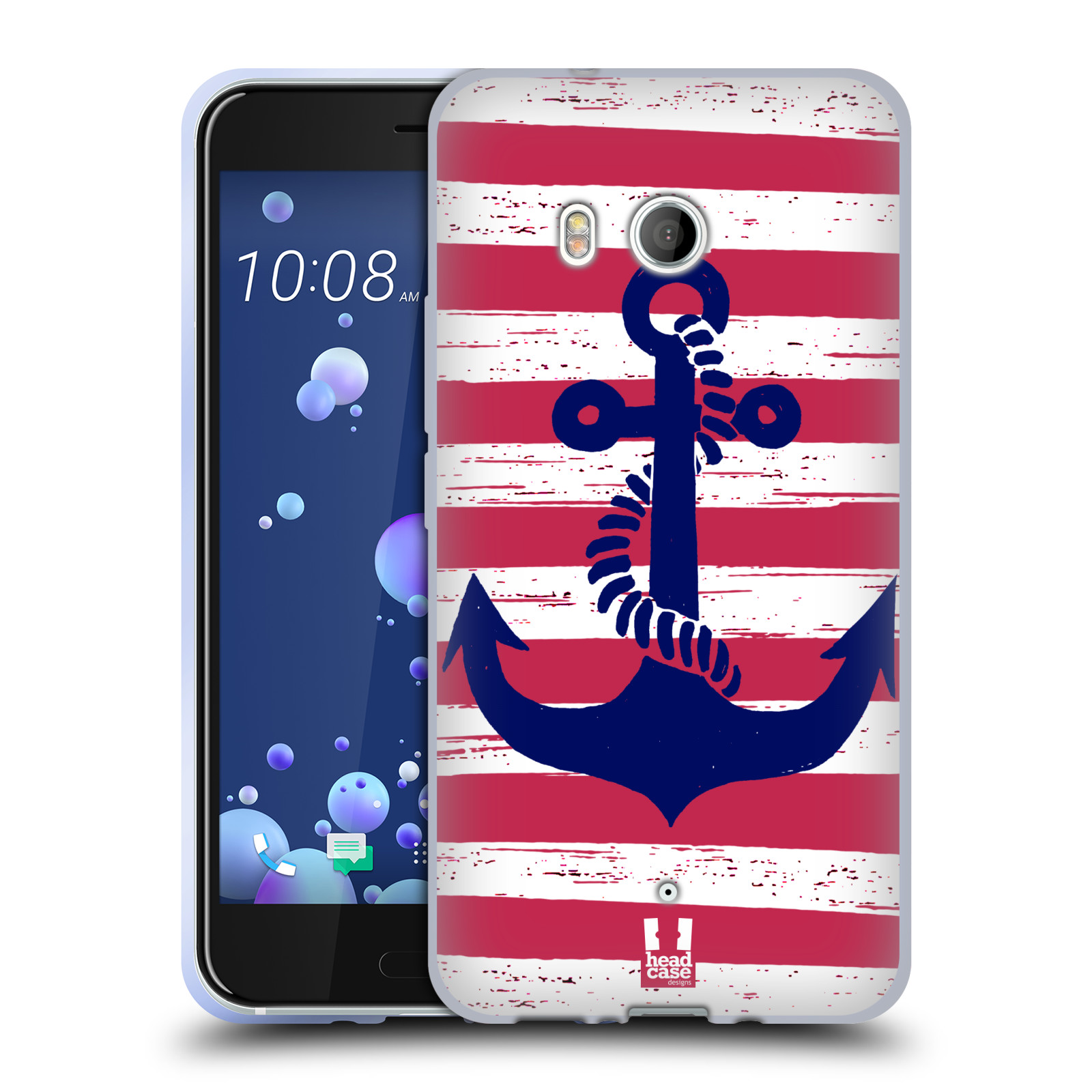 Silikonové pouzdro na mobil HTC U11 - Head Case - KOTVA S PRUHY
