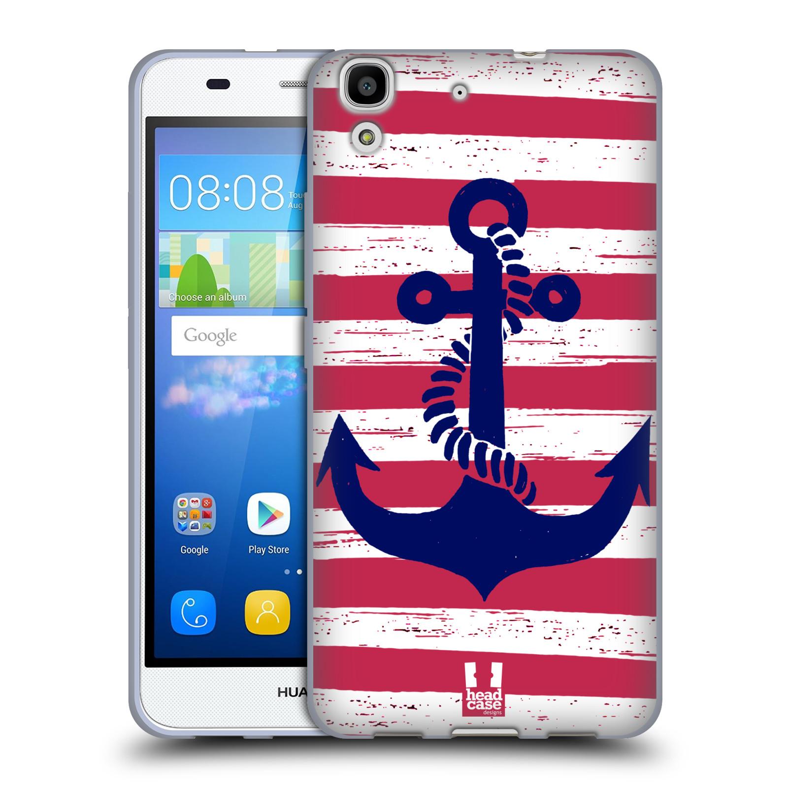 Silikonové pouzdro na mobil Huawei Y6 HEAD CASE KOTVA S PRUHY