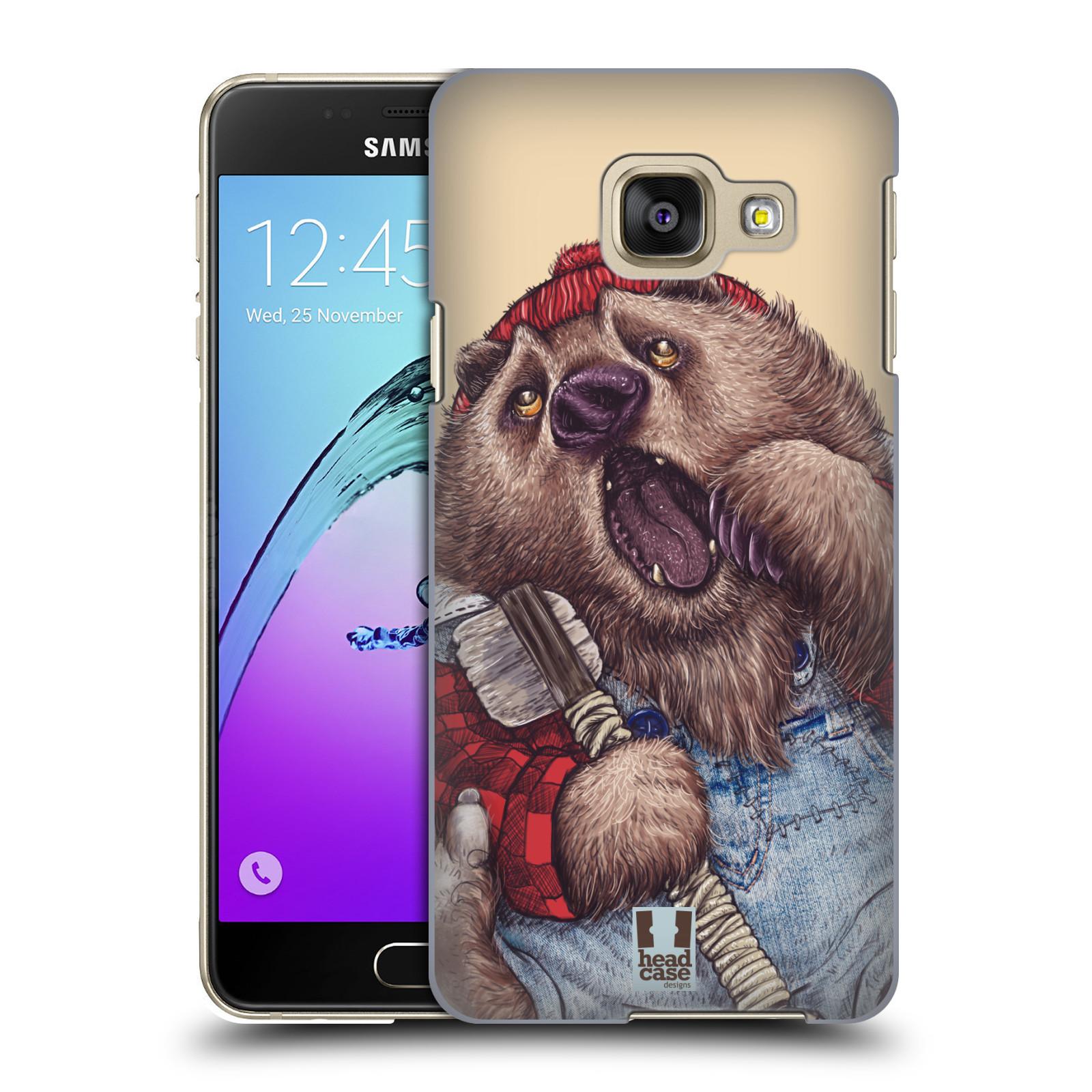 Plastové pouzdro na mobil Samsung Galaxy A3 (2016) HEAD CASE ANIMPLA MEDVĚD