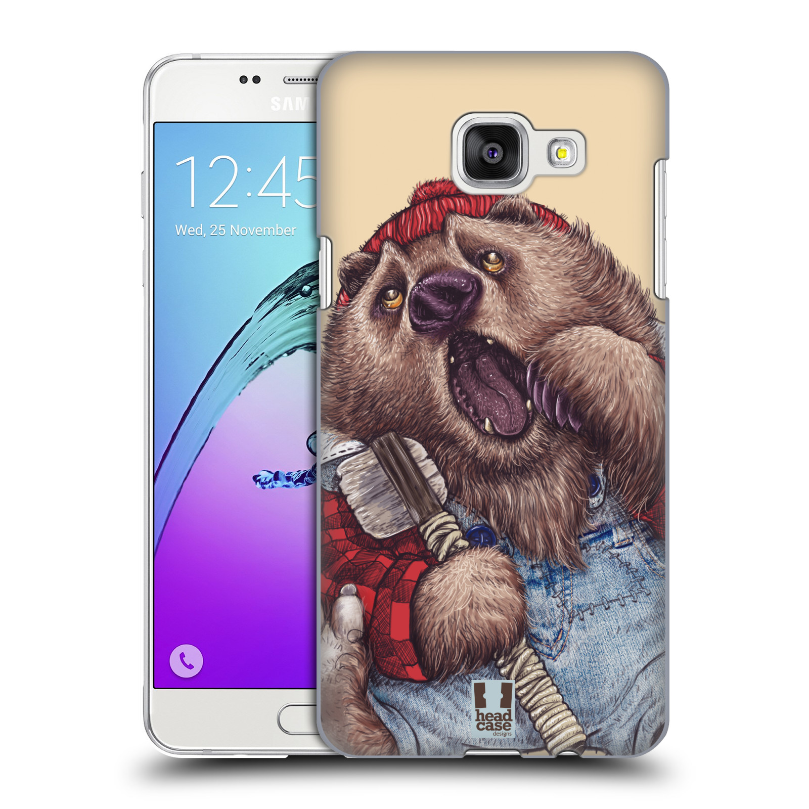 Plastové pouzdro na mobil Samsung Galaxy A5 (2016) HEAD CASE ANIMPLA MEDVĚD