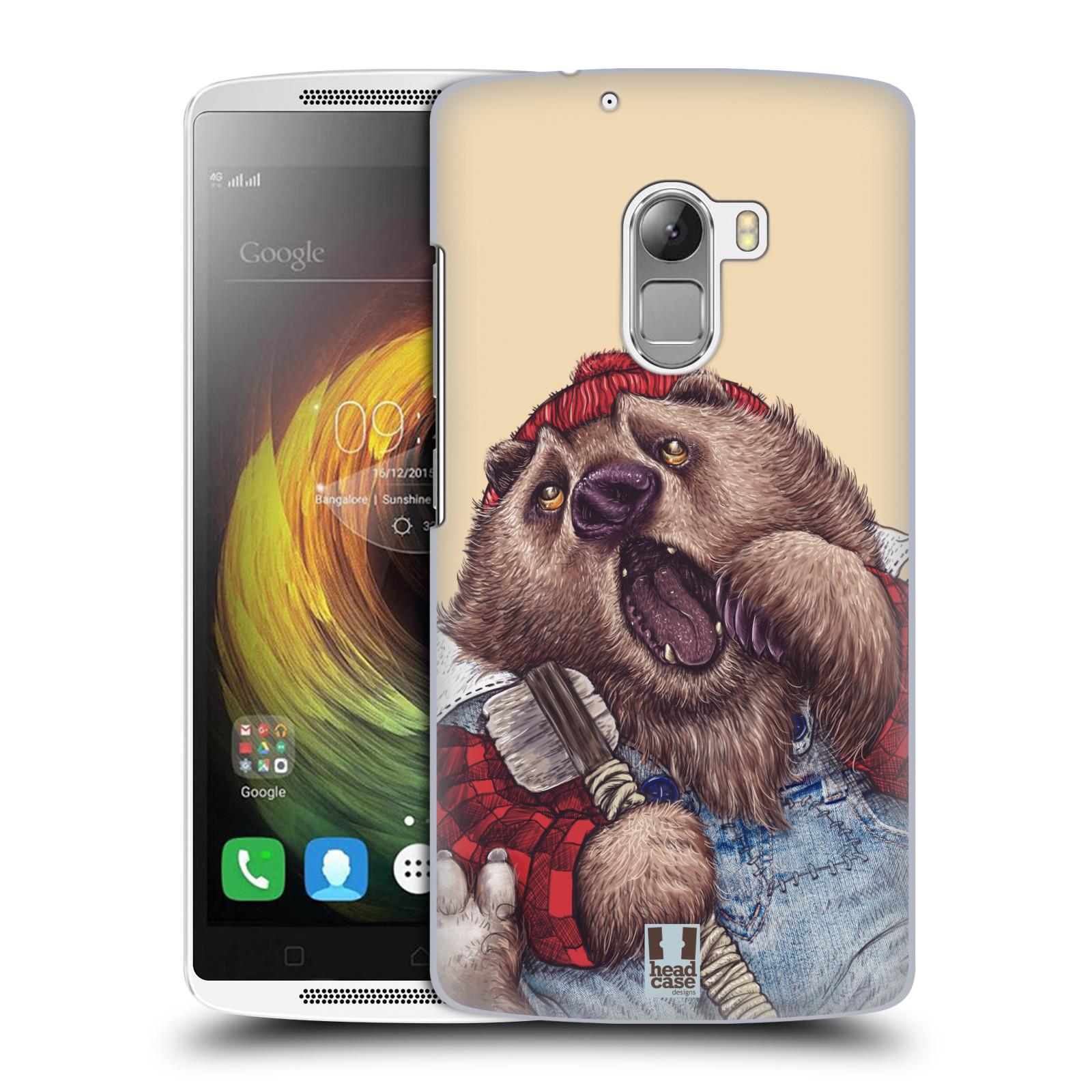 Plastové pouzdro na mobil Lenovo A7010 HEAD CASE ANIMPLA MEDVĚD