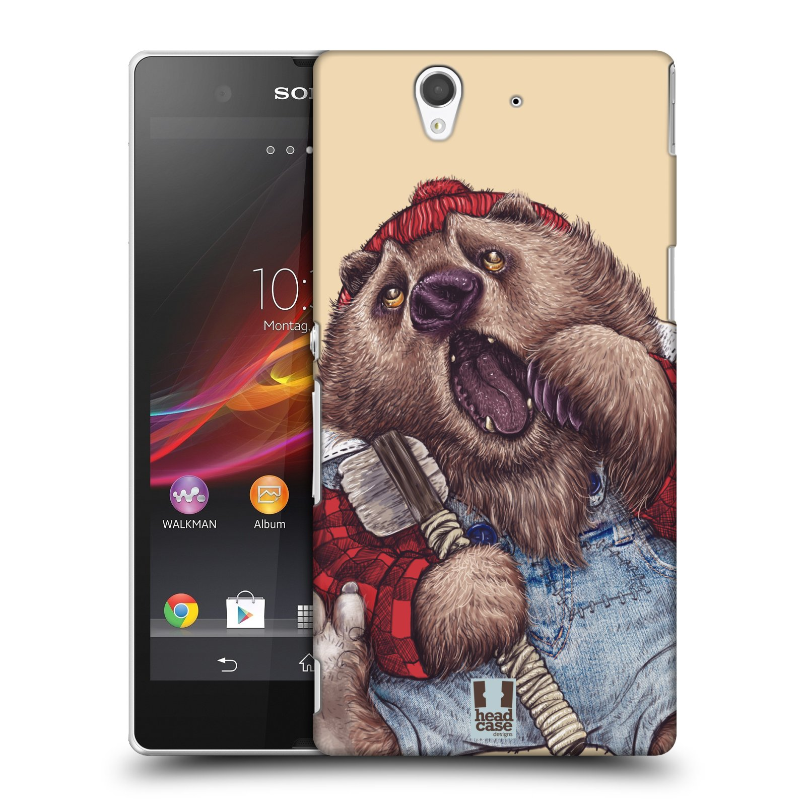 Plastové pouzdro na mobil Sony Xperia Z C6603 HEAD CASE ANIMPLA MEDVĚD