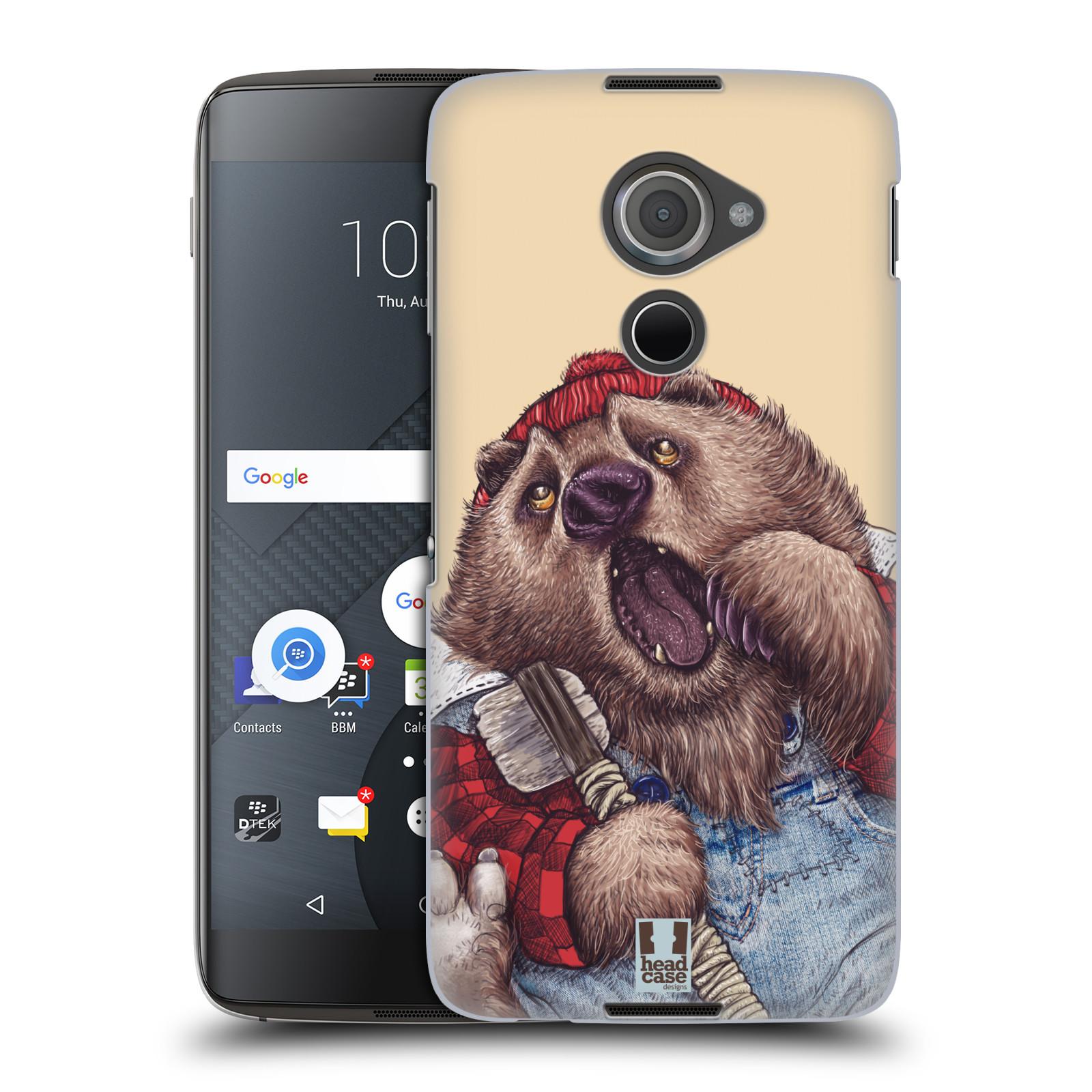 Plastové pouzdro na mobil Blackberry DTEK60 (Argon) - Head Case ANIMPLA MEDVĚD
