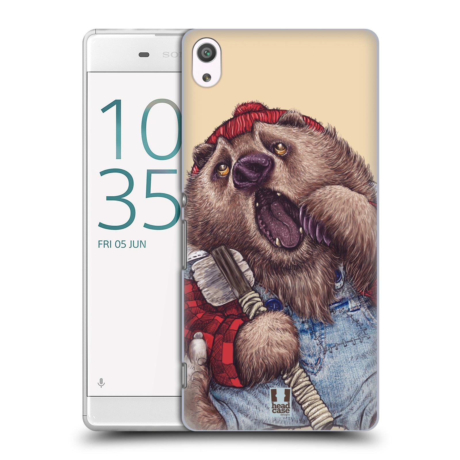 Plastové pouzdro na mobil Sony Xperia XA Ultra HEAD CASE ANIMPLA MEDVĚD