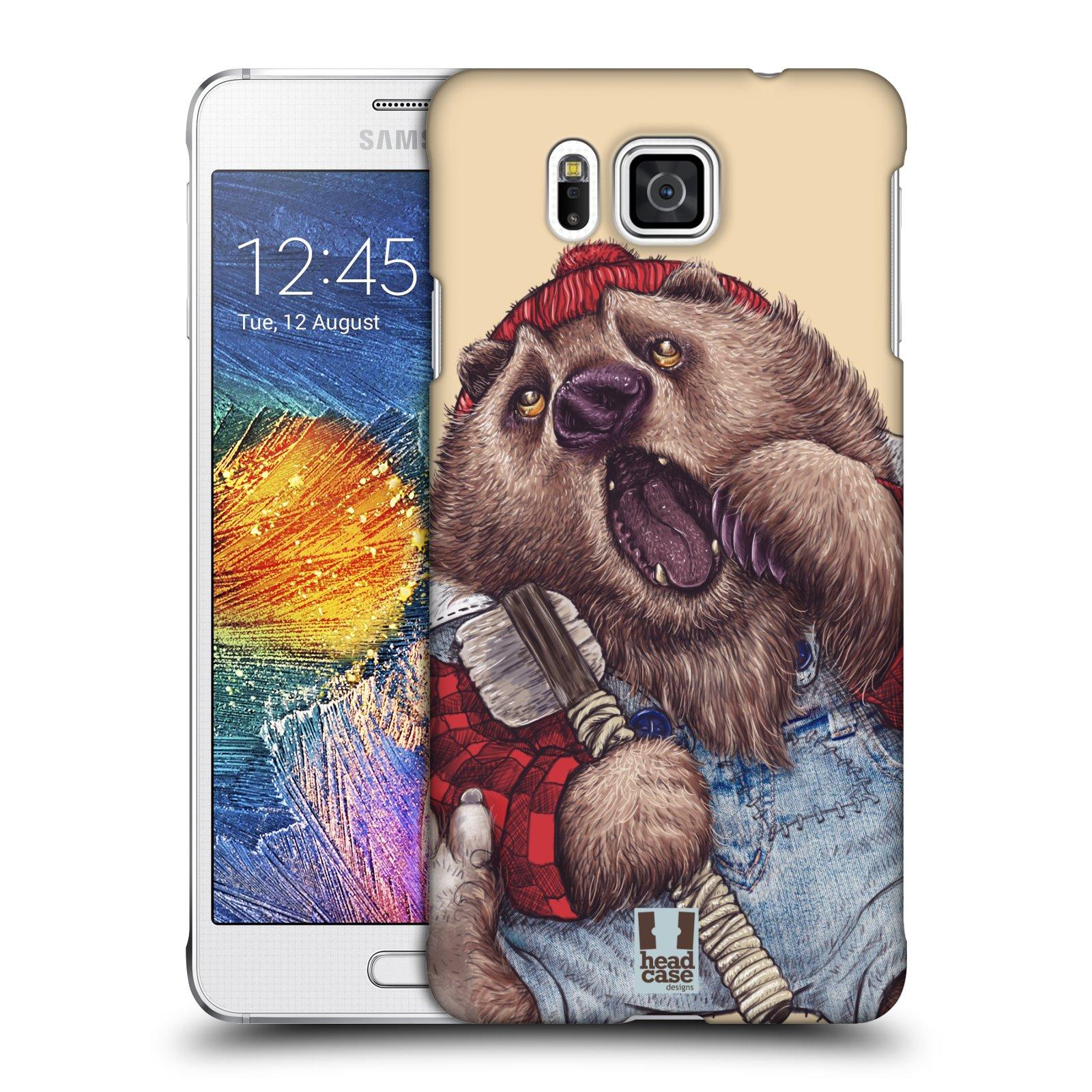Plastové pouzdro na mobil Samsung Galaxy Alpha HEAD CASE ANIMPLA MEDVĚD