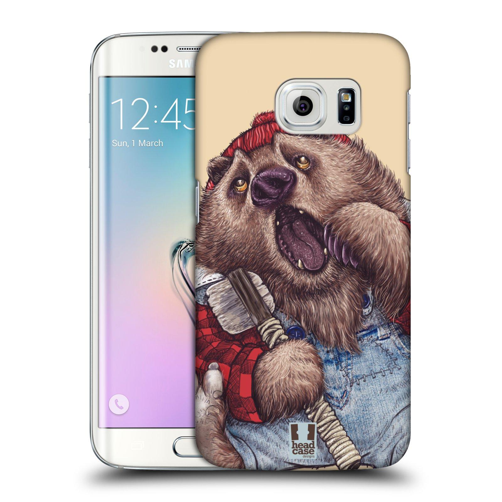 Plastové pouzdro na mobil Samsung Galaxy S6 Edge HEAD CASE ANIMPLA MEDVĚD