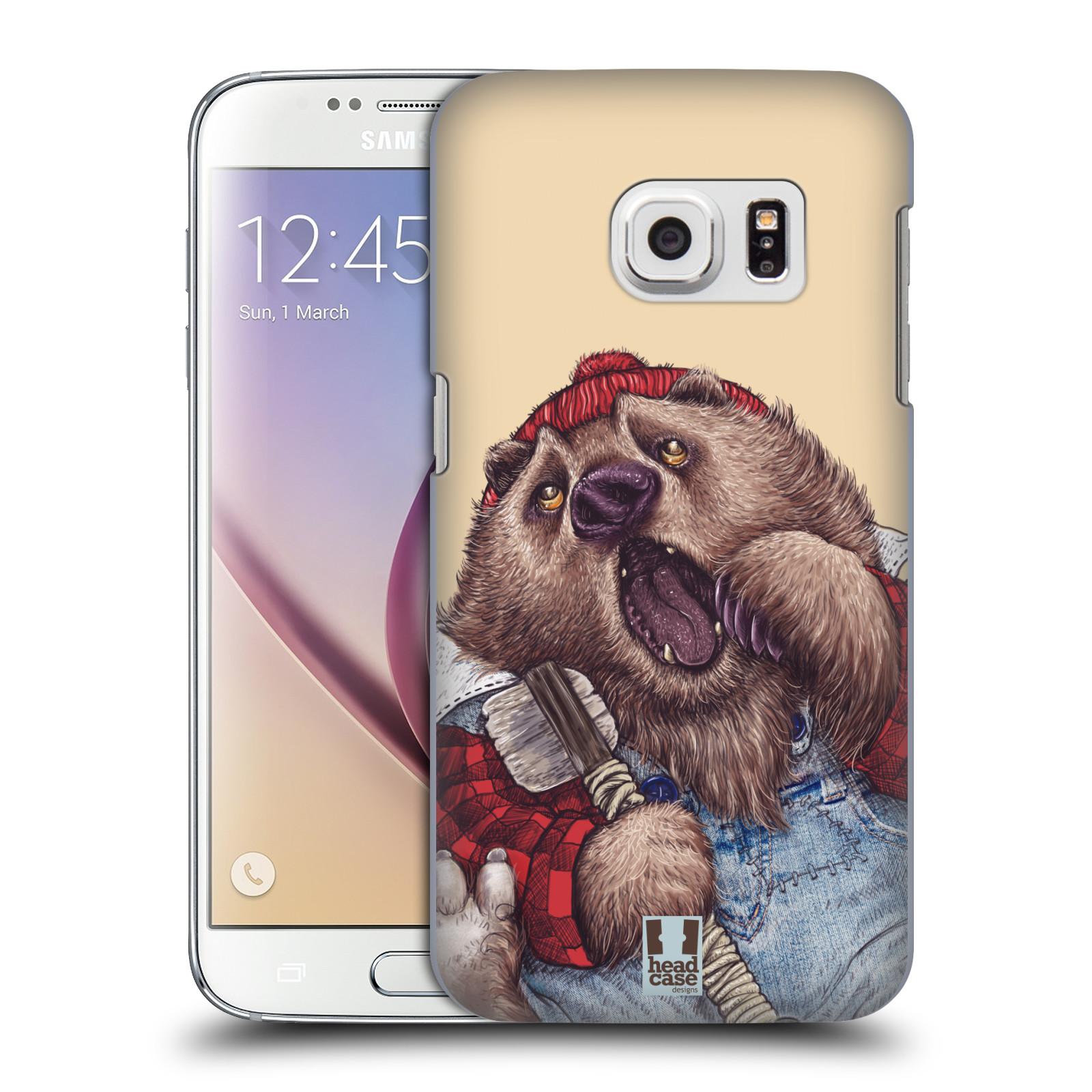 Plastové pouzdro na mobil Samsung Galaxy S7 HEAD CASE ANIMPLA MEDVĚD (Kryt či obal na mobilní telefon Samsung Galaxy S7 SM-G930F)