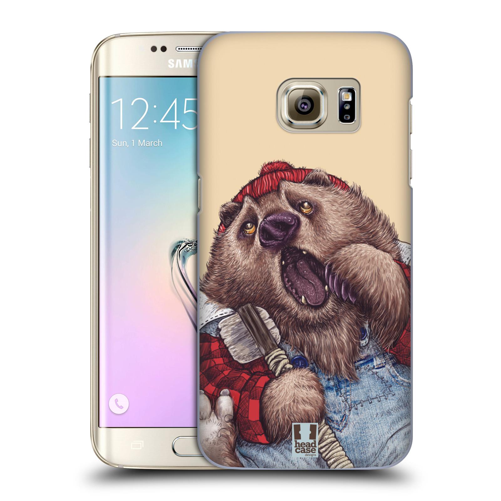Plastové pouzdro na mobil Samsung Galaxy S7 Edge HEAD CASE ANIMPLA MEDVĚD