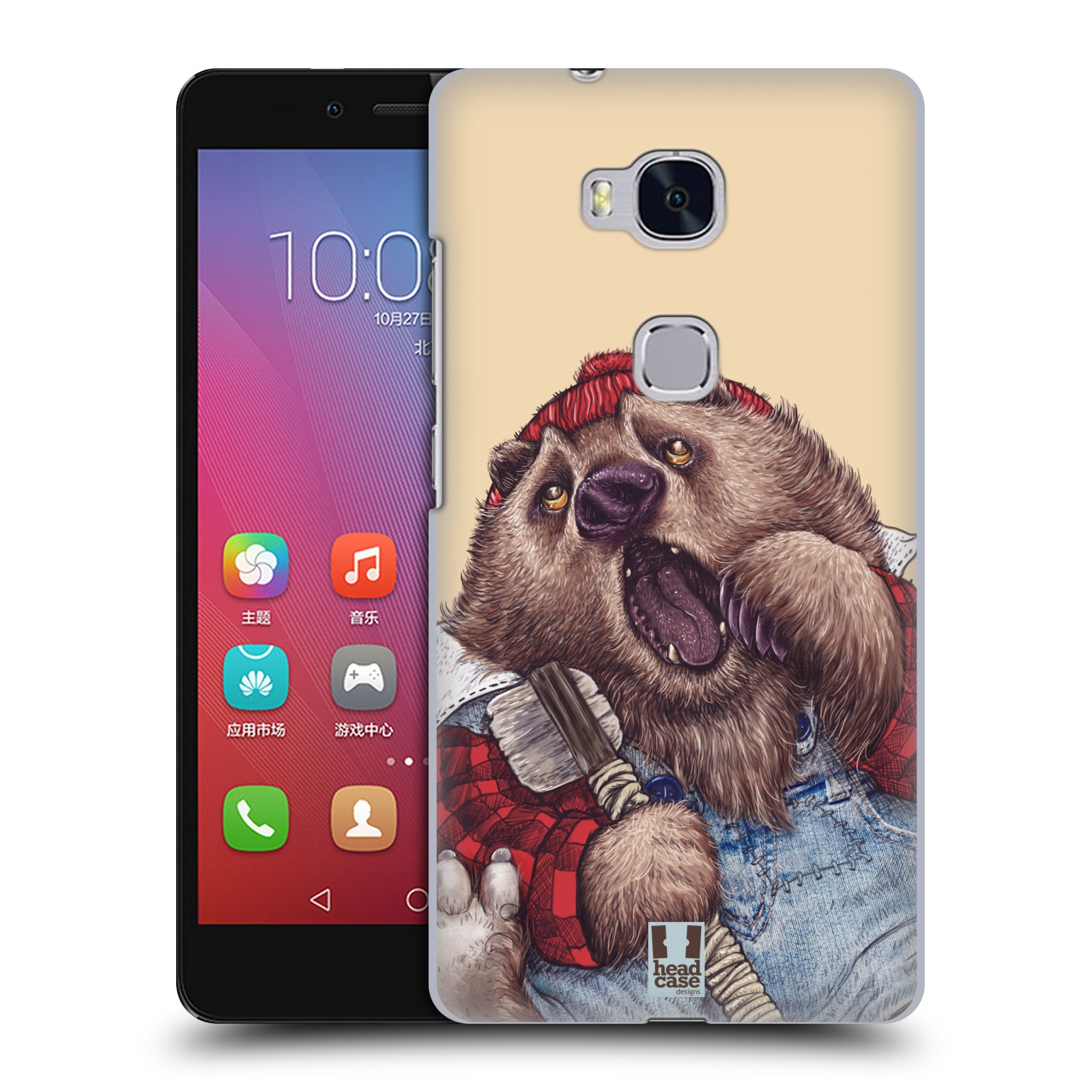 Plastové pouzdro na mobil Honor 5X HEAD CASE ANIMPLA MEDVĚD