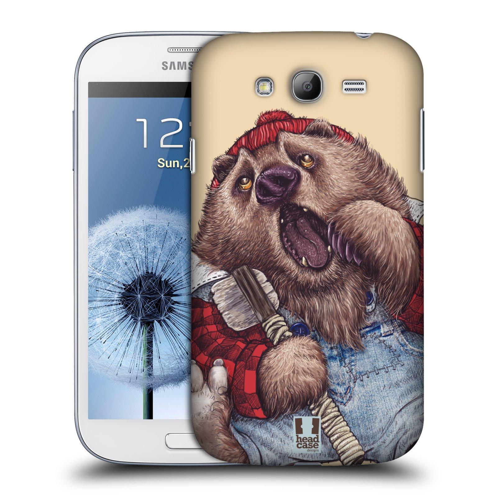 Plastové pouzdro na mobil Samsung Galaxy Grand Neo Plus HEAD CASE ANIMPLA MEDVĚD