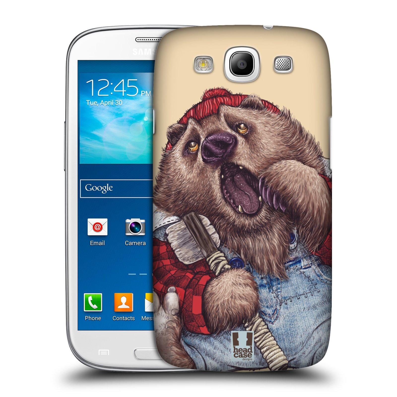 Plastové pouzdro na mobil Samsung Galaxy S III HEAD CASE ANIMPLA MEDVĚD