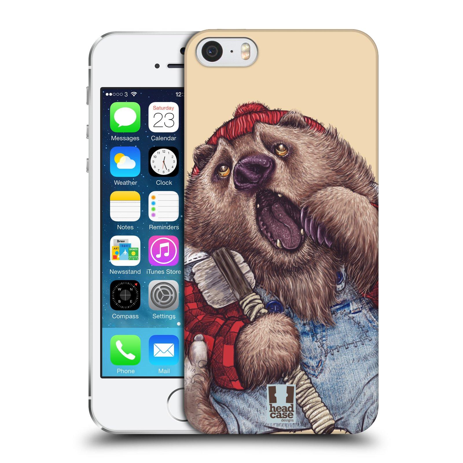 Plastové pouzdro na mobil Apple iPhone SE, 5 a 5S HEAD CASE ANIMPLA MEDVĚD