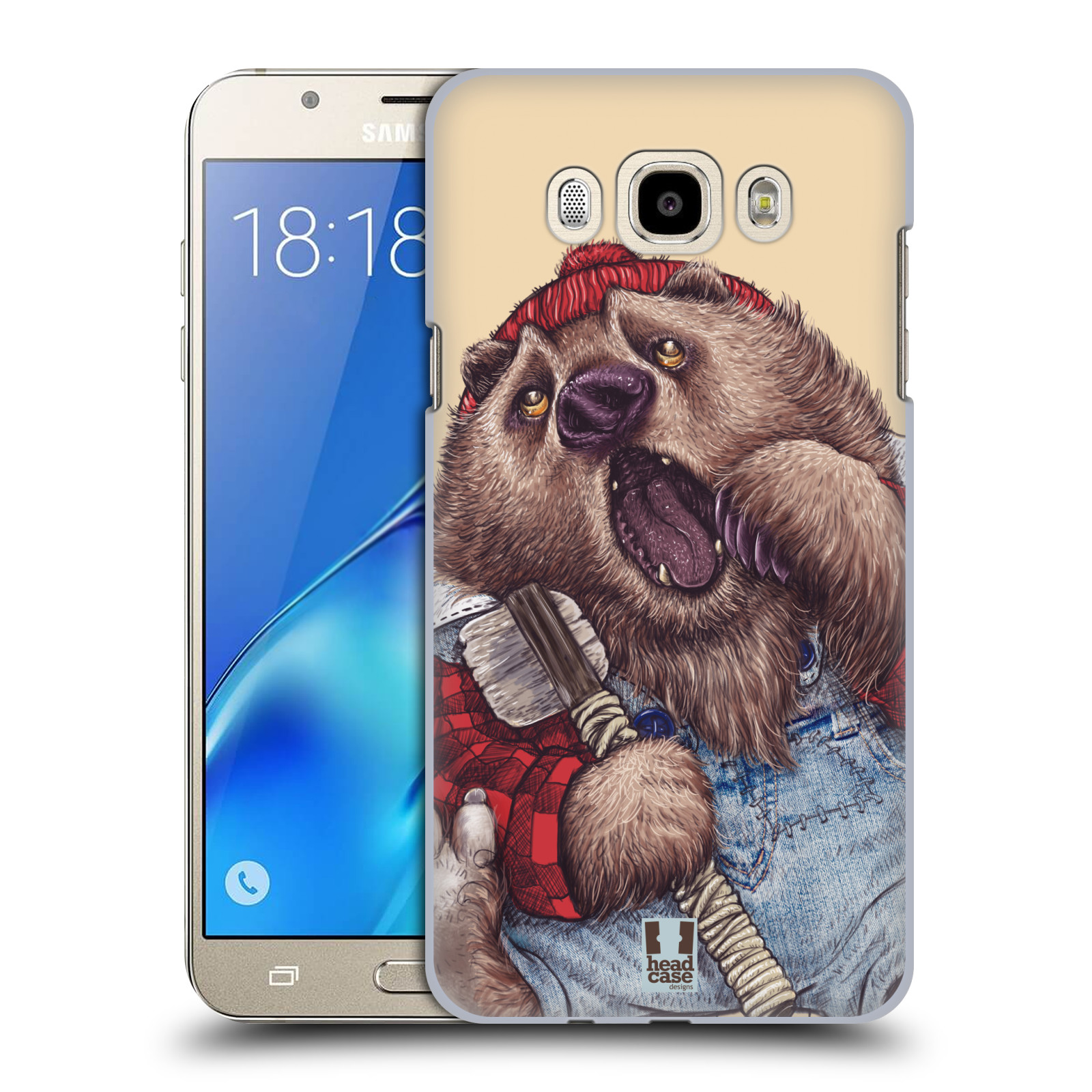 Plastové pouzdro na mobil Samsung Galaxy J7 (2016) HEAD CASE ANIMPLA MEDVĚD