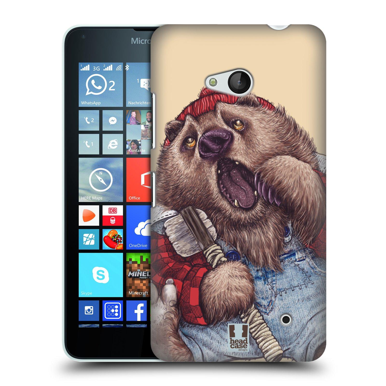 Plastové pouzdro na mobil Microsoft Lumia 640 HEAD CASE ANIMPLA MEDVĚD