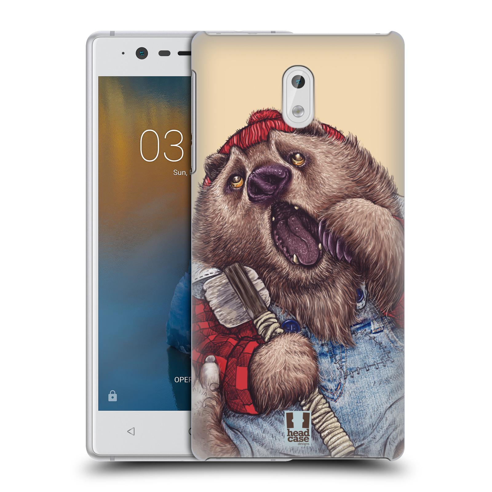 Plastové pouzdro na mobil Nokia 3 Head Case - ANIMPLA MEDVĚD